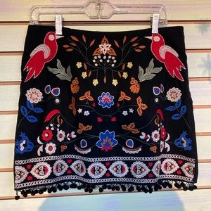 Folky embroidered skirt